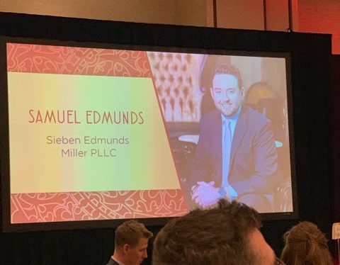 Samuel Edmunds Receives Attorney of the Year Award at Annual Minnesota Lawyer Dinner
